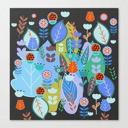 Midnight joyful inflorescence Canvas Print