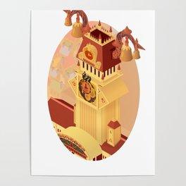 Twilight Tower (Kingdom Hearts) Isometric Art Poster