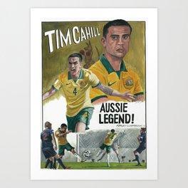 Tim Cahill Socceroos legend Art Print