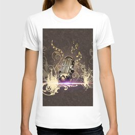 Music, microphone T-shirt