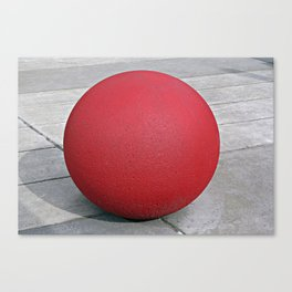 Round and Red 2 Canvas Print