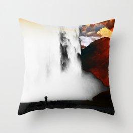 Isolation Waterfall Throw Pillow