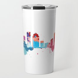 Houston Cityscape Watercolor Travel Mug