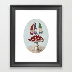Levitating Gnomes Framed Art Print