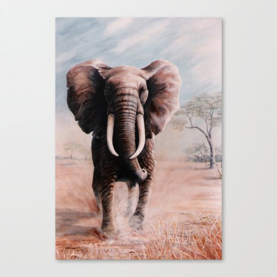 Charge  painting Canvas Print