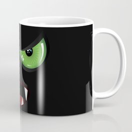 Evil face with green eyes Coffee Mug