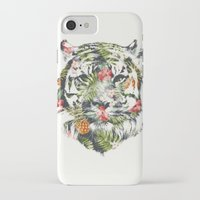 tropical iPhone & iPod Cases featuring Tropical tiger by Robert Farkas