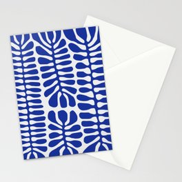 Blue seaweed hanging Stationery Cards