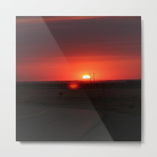 Sunset Highway Metal Print