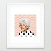 golden girls Framed Art Prints featuring Golden Girls - Sophia by courtneeeee