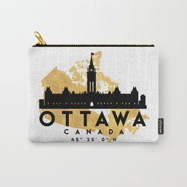 OTTAWA CANADA SILHOUETTE SKYLINE MAP ART Carry-All Pouch