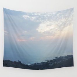 Blue Sunset over the Pacific Wall Tapestry