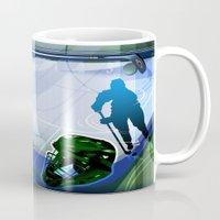 hockey Mugs featuring Hockey by Robin Curtiss