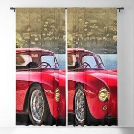 Vintage 1954 Italian Roadster A6GCS Berlinetta Pinin Farina Painting Blackout Curtain