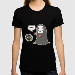 Studio Ghibli No-Face in Love of SootBall T-shirt
