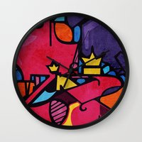 crown Wall Clocks featuring Crown by Arcturus
