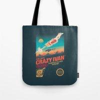 danny ivan Tote Bags featuring Crazy Ivan by Victor Vercesi