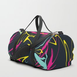 Colorful Abstract Memphis Lines Pattern Duffle Bag