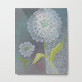 Cloudy Days Flowers Shine Metal Print