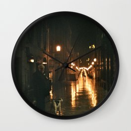 Old men with a dog - Bordeaux Wall Clock