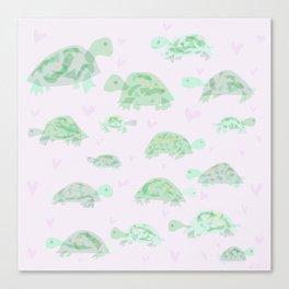 loving turtles Canvas Print