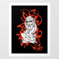 SERVICEWOMAN Art Print