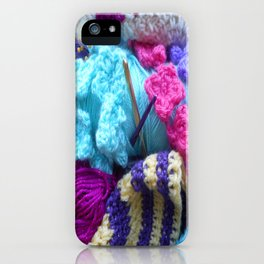 For the love of crafting iPhone Case