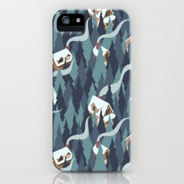 Forest Cabins iPhone Case