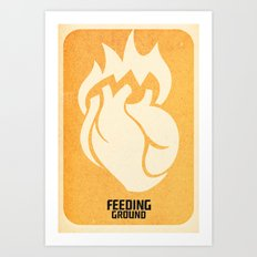 FEEDING GROUND Sacred Heart Art Print