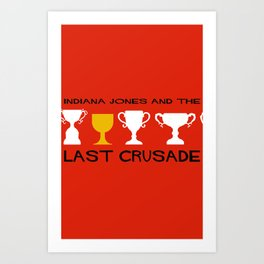 Indiana Jones and the Last Crusade Minimal Movie Poster Art Print