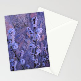 Pear Blossoms Lilac Stationery Cards