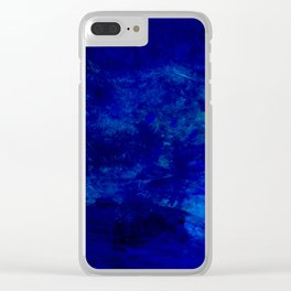 Blue Night- Abstract digital Art Clear iPhone Case