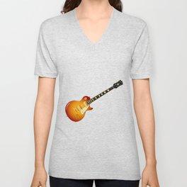 Cherry Sunburst Guitar Unisex V-Neck