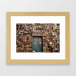bookstore in Italy Framed Art Print