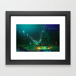 Green Esc Framed Art Print
