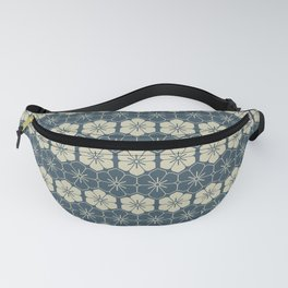 Blue Floral Japanese Pattern Fanny Pack