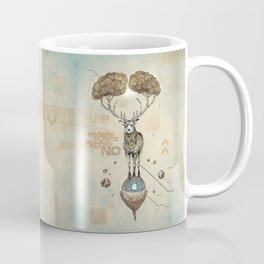 Asteroid Brain Diagnostics // (metaphysical deer) Coffee Mug