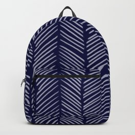Indigo Herringbone Backpack
