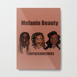 Melanin Beauty Metal Print