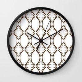 Modern Antler:  Brown Wall Clock