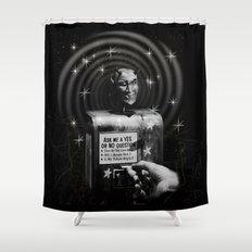 Devil's Question Box Shower Curtain