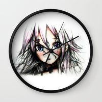 vocaloid Wall Clocks featuring A Vocaloid - IA by KhalilKhalidy