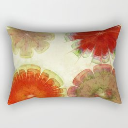 Gingles Style Flowers  ID:16165-084302-93370 Rectangular Pillow