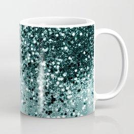 Teal Mermaid Ocean Glitter #1 #shiny #decor #art #society6 Coffee Mug