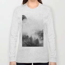 back and white mountains Long Sleeve T-shirt