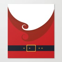 santa Canvas Prints featuring Santa by Sara Eshak