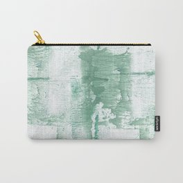 Dark sea green vague watercolor Carry-All Pouch