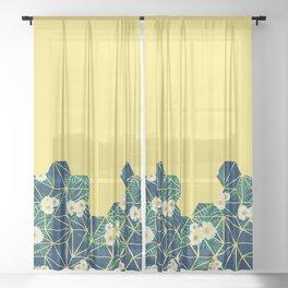 Tropical Tiles #society6 #decor #buyart Sheer Curtain