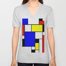 Colored Squares Art Unisex V-Neck