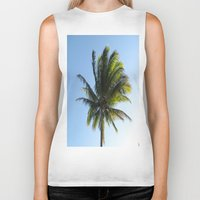 palm Biker Tanks featuring Palm by Percival